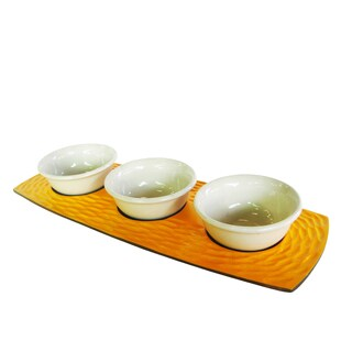 Sunflower Honeycomb 3-bowl Server Set (Thailand)