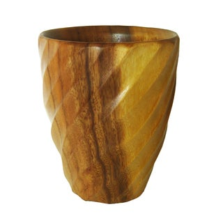 Handmade Natural Spiral Acacia Utensil Vase (Thailand)