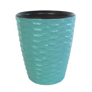 Handmade Sky Blue Honeycomb Mango Utensil Vase (Thailand)