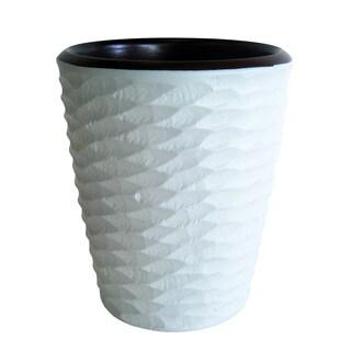 Handmade White Honeycomb Mango Utensil Vase (Thailand)