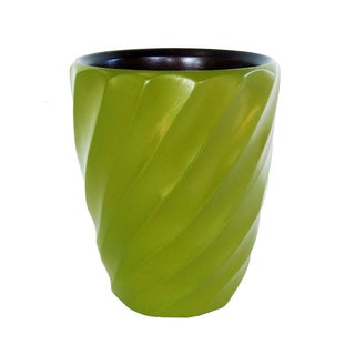 Avocado Spiral Mango Utensil Vase (Thailand)