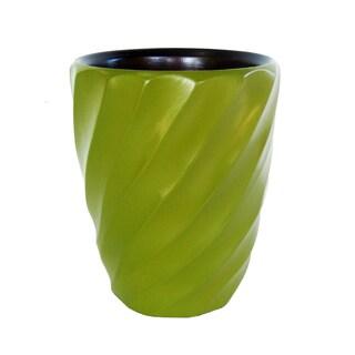 Handmade Avocado Spiral Mango Utensil Vase (Thailand)
