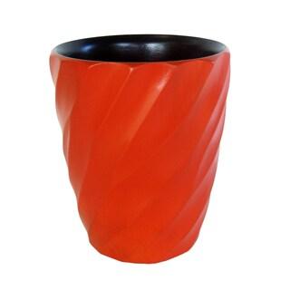 Handmade Tangerine Spiral Mango Utensil Vase (Thailand)