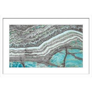 Marmont Hill - 'Aqua Layers' Framed Painting Print