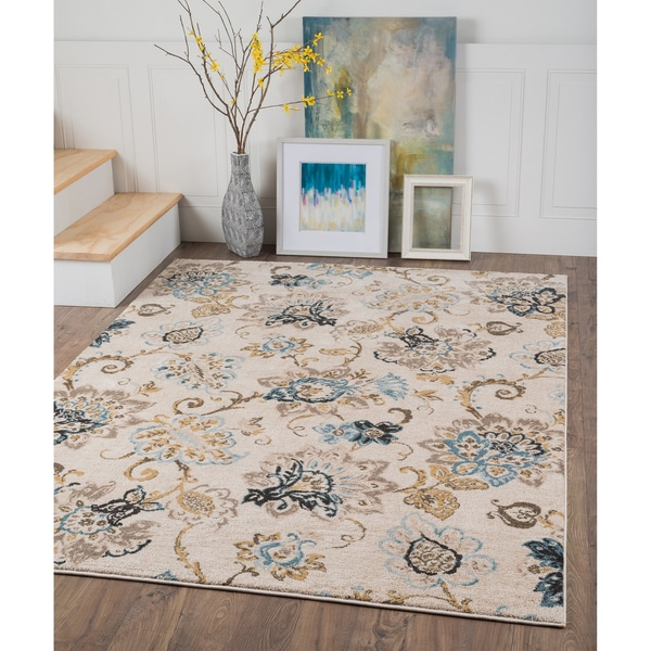 Alise Rugs Windsor Floral Area Rug (7'10 x 10'3)