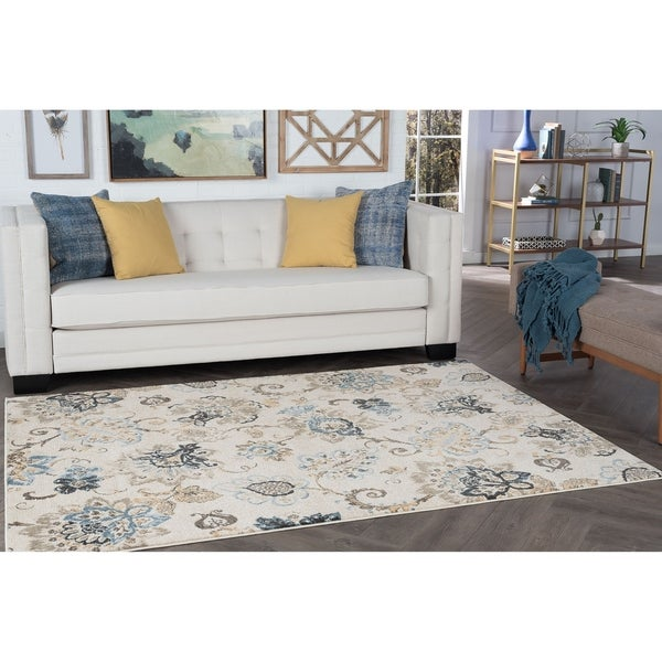 Alise Rugs Windsor Floral Area Rug - 7'10 x 10'3