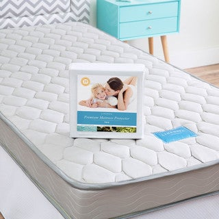 LINENSPA Twin-size Innerspring Mattress with Waterproof Protector