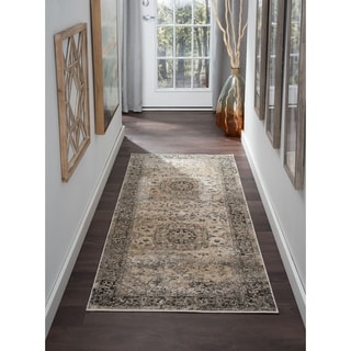Alise Rugs Windsor Grey Oriental Area Rug (2'7 x 7'3)