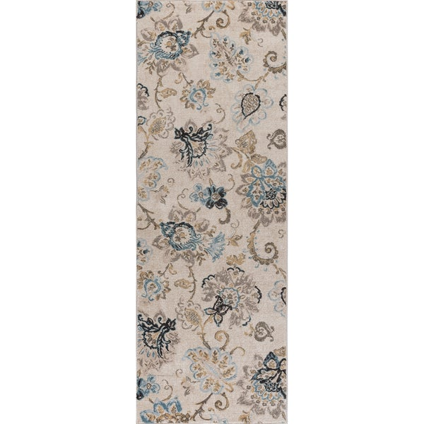 Alise Rugs Windsor Floral Area Rug (2'7' x 7'3')