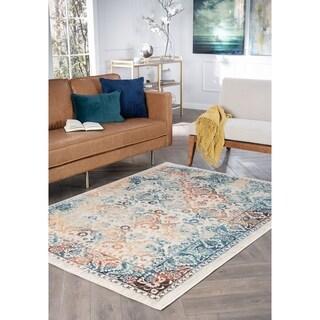 Alise Rugs Jordana Floral Multicolor Polypropylene Area Rug (7'10 x 10'3)