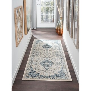 Alise Rugs Jordana Cream Polypropylene Medallion Area Rug (2'7 x 7'3)