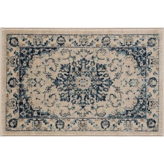 Alise Rugs Jordana Cream Medallion Area Rug (2' x 3')