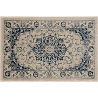 Alise Rugs Jordana Traditional Medallion Scatter Mat Rug