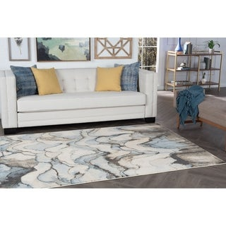 Alise Rugs Windsor Mutli Abstract Area Rug (7'10 x 10'3)