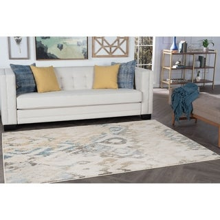 Alise Rugs Windsor Cream Ikat Area Rug (5'3 x 7'3)