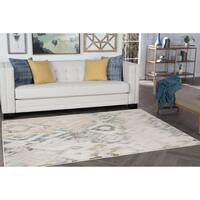 Alise Rugs Windsor Cream Ikat Area Rug - 5'3 x 7'3