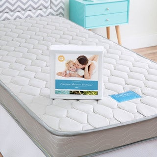 LINENSPA Twin XL-size Innerspring Mattress with Waterproof Protector