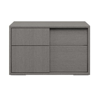 Modern Life Stella Grey Wood 2-drawer Nightstand