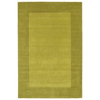Borders Lime Green Hand-Tufted Wool Rug (9'6 x 13'0)