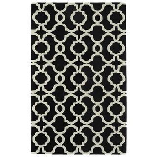 Cosmopolitan Black Trellis Rug (9'6 x 13'0)