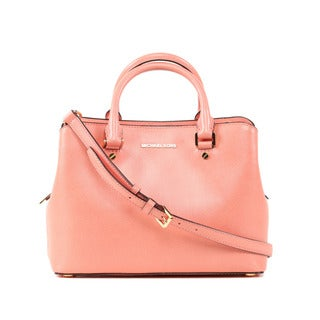 Michael Kors Peach Savannah Medium Satchel Handbag