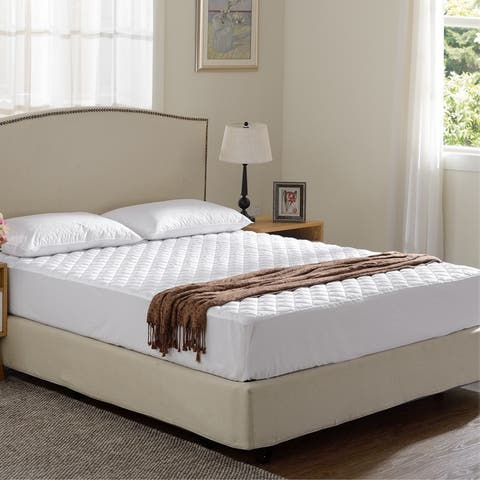 Cheer Collection Quilted Hypoallergenic Fitted Mattress Pad