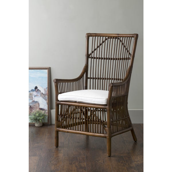 East At Mainu0026#x27;s Walton Brown Square Rattan Accent Chair