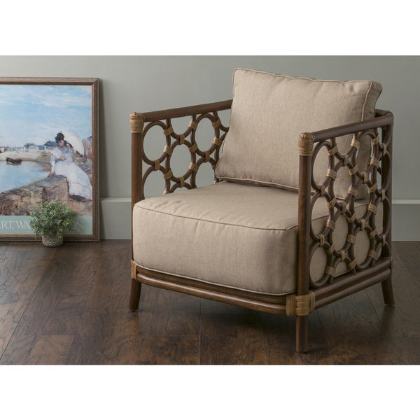 Brown Accent Chair For Bedroom Square: Shop East At Main's Alstead Brown Square Rattan Accent