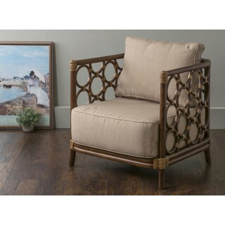 East At Main's Alstead Brown Square Rattan Accent Chair