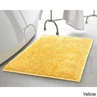 "Laura Ashley Butter Chenille Bath Mat (20"" x 34"") (Option: Yellow)"