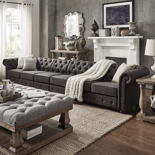 Knightsbridge Oversize Extra Long Tufted Chesterfield Modular Sofa by iNSPIRE Q Artisan|https://ak1.ostkcdn.com/images/products/14045494/P20661613.jpg?impolicy=medium