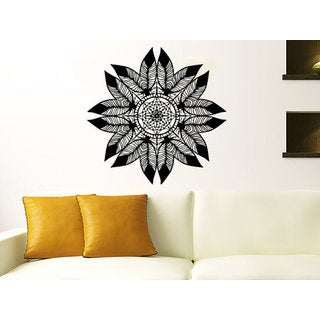 Dreamcatcher Dream Catcher Feathers Night Symbol Indian Sticker Decall size 48x48 Color Black