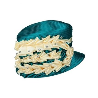 Giovanna Signature Women's Satin Embellished Ribbon Hat