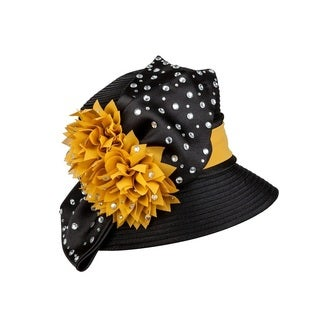 Giovanna Signature Women's Embellished Satin Color Combo Ribbon Hat