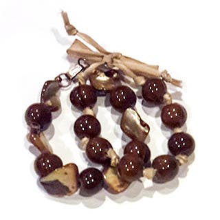 Mother of Pearl Ceramic Bead Bracelet (Set of 2)