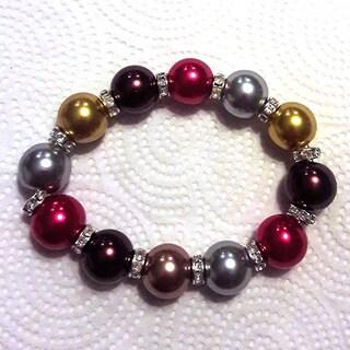 Colorful Faux Pearl Bracelet