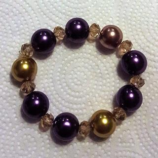 Multicolored Faux Pearl Stretch Bracelet