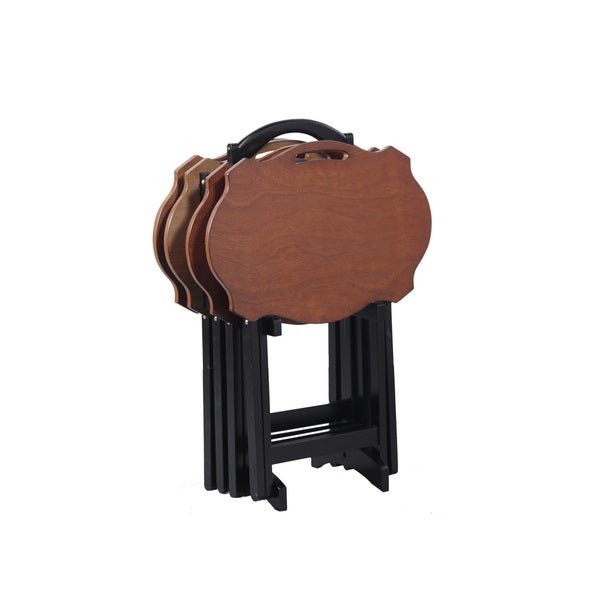Powell Serpentine Black TV Tray Table