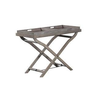 Powell Jenette Grey Wood TV Tray Table