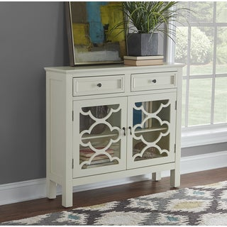 Powell Canady White Entryway Storage Console