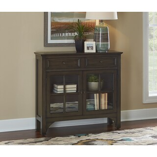 Campbell Grey Glass-front Contemporary Entryway Console
