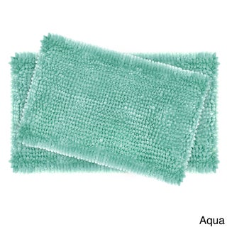 Laura Ashley Butter Chenille 2-Piece Bath Mat Set (Option: Aqua)