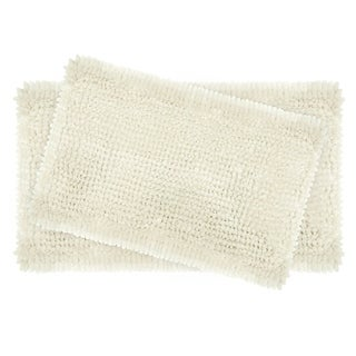 Laura Ashley Butter Chenille 2-Piece Bath Mat Set