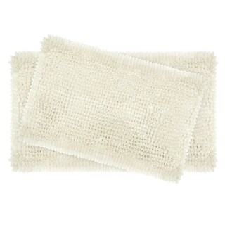 Laura Ashley Butter Chenille 2-Piece Bath Mat Set (5 options available)