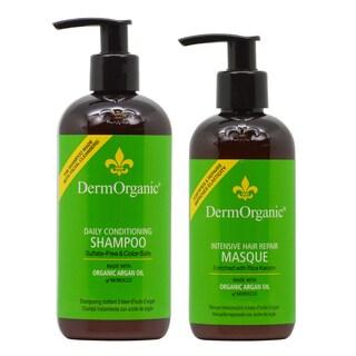 DermOrganic 12-ounce Shampoo & 8.5-ounce Masque Duo