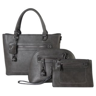 Diophy 3-piece Tote, Crossbody, and Wristlet Handbag Set