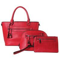 Diophy 3-piece Tote, Crossbody, and Wristlet Handbag Set