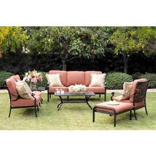 Darlee St. Cruz Cast Aluminum 4-piece Deep Seating Group with Cushions