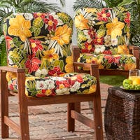 Havenside Home San Elijo 2-piece Outdoor Seat/ Back Chair Cushion Set