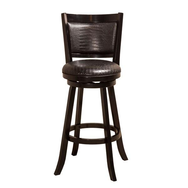 Shop Hillsdale Furniture Brannon Black Faux Croc Leather